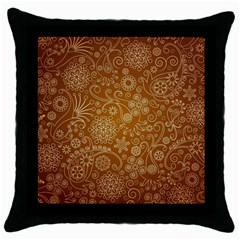 Batik Art Pattern Throw Pillow Case (black) by BangZart