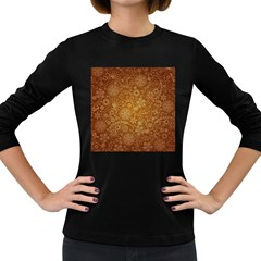 Batik Art Pattern Women s Long Sleeve Dark T Shirts