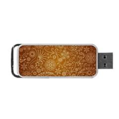 Batik Art Pattern Portable Usb Flash (two Sides)