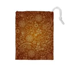 Batik Art Pattern Drawstring Pouches (large)  by BangZart