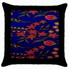 Batik  Fabric Throw Pillow Case (black) by BangZart