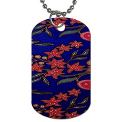 Batik  Fabric Dog Tag (two Sides)