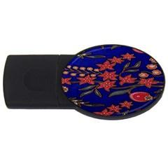 Batik  Fabric Usb Flash Drive Oval (4 Gb)
