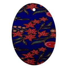 Batik  Fabric Oval Ornament (two Sides) by BangZart