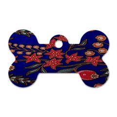 Batik  Fabric Dog Tag Bone (two Sides) by BangZart