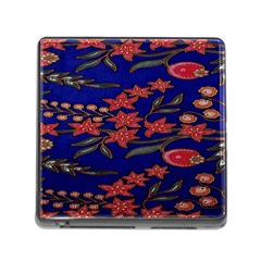 Batik  Fabric Memory Card Reader (square)