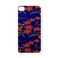 Batik  Fabric Apple Iphone 4 Case (white) by BangZart