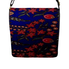 Batik  Fabric Flap Messenger Bag (l)  by BangZart