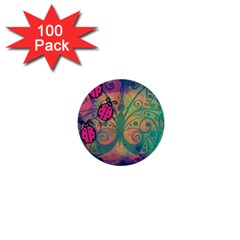 Background Colorful Bugs 1  Mini Buttons (100 Pack)
