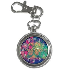 Background Colorful Bugs Key Chain Watches