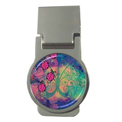 Background Colorful Bugs Money Clips (round)