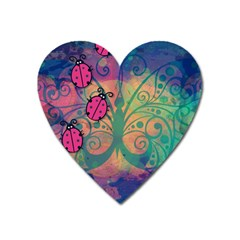 Background Colorful Bugs Heart Magnet by BangZart