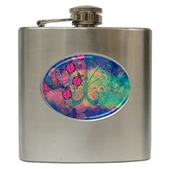 Background Colorful Bugs Hip Flask (6 Oz) by BangZart