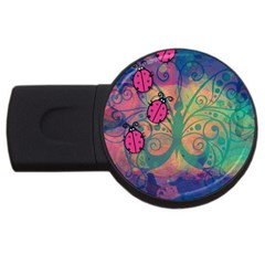 Background Colorful Bugs Usb Flash Drive Round (4 Gb) by BangZart