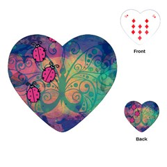 Background Colorful Bugs Playing Cards (heart)  by BangZart