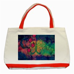 Background Colorful Bugs Classic Tote Bag (red) by BangZart