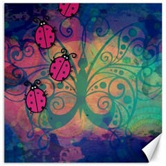 Background Colorful Bugs Canvas 20  X 20