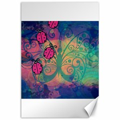 Background Colorful Bugs Canvas 24  X 36