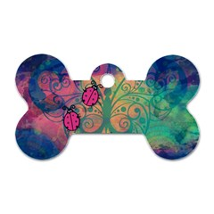 Background Colorful Bugs Dog Tag Bone (two Sides) by BangZart