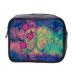 Background Colorful Bugs Mini Toiletries Bag 2 Side by BangZart
