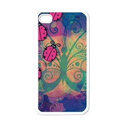 Background Colorful Bugs Apple Iphone 4 Case (white) by BangZart