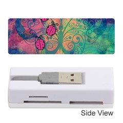 Background Colorful Bugs Memory Card Reader (stick)