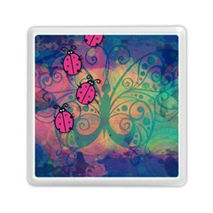 Background Colorful Bugs Memory Card Reader (square)  by BangZart