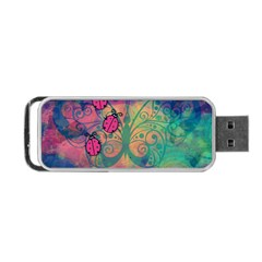 Background Colorful Bugs Portable Usb Flash (two Sides) by BangZart
