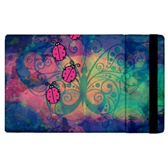 Background Colorful Bugs Apple Ipad 2 Flip Case by BangZart
