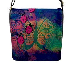 Background Colorful Bugs Flap Messenger Bag (l)  by BangZart