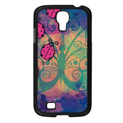 Background Colorful Bugs Samsung Galaxy S4 I9500/ I9505 Case (black) by BangZart