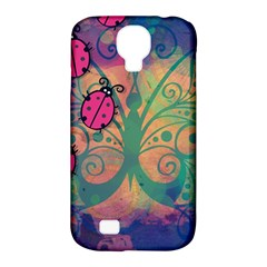 Background Colorful Bugs Samsung Galaxy S4 Classic Hardshell Case (pc+silicone)