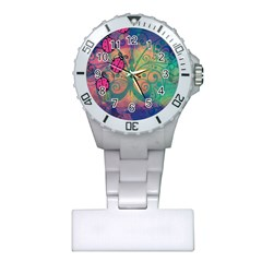 Background Colorful Bugs Plastic Nurses Watch