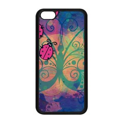 Background Colorful Bugs Apple Iphone 5c Seamless Case (black)