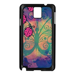 Background Colorful Bugs Samsung Galaxy Note 3 N9005 Case (black)