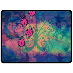Background Colorful Bugs Double Sided Fleece Blanket (large)  by BangZart