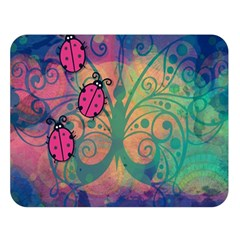 Background Colorful Bugs Double Sided Flano Blanket (large)  by BangZart