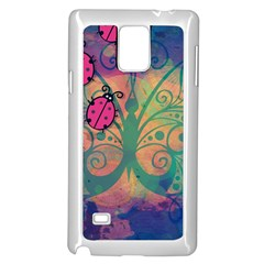 Background Colorful Bugs Samsung Galaxy Note 4 Case (white) by BangZart