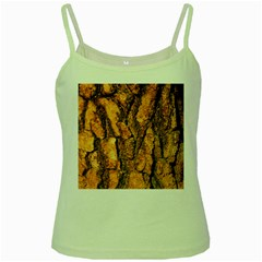 Bark Texture Wood Large Rough Red Wood Outside California Green Spaghetti Tank by BangZart