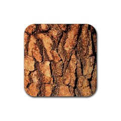 Bark Texture Wood Large Rough Red Wood Outside California Rubber Square Coaster (4 Pack)  by BangZart