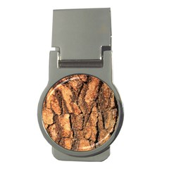 Bark Texture Wood Large Rough Red Wood Outside California Money Clips (round)