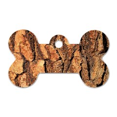 Bark Texture Wood Large Rough Red Wood Outside California Dog Tag Bone (two Sides) by BangZart