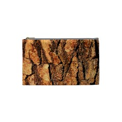 Bark Texture Wood Large Rough Red Wood Outside California Cosmetic Bag (small)  by BangZart