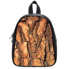 Bark Texture Wood Large Rough Red Wood Outside California School Bags (small)  by BangZart