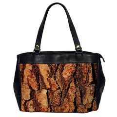 Bark Texture Wood Large Rough Red Wood Outside California Office Handbags by BangZart