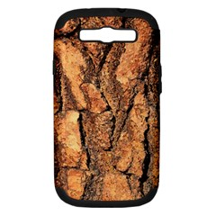 Bark Texture Wood Large Rough Red Wood Outside California Samsung Galaxy S Iii Hardshell Case (pc+silicone) by BangZart