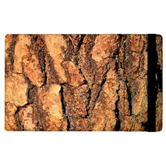Bark Texture Wood Large Rough Red Wood Outside California Apple Ipad 3/4 Flip Case by BangZart