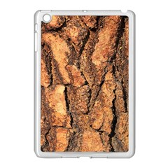 Bark Texture Wood Large Rough Red Wood Outside California Apple Ipad Mini Case (white) by BangZart