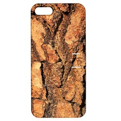 Bark Texture Wood Large Rough Red Wood Outside California Apple Iphone 5 Hardshell Case With Stand by BangZart