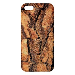 Bark Texture Wood Large Rough Red Wood Outside California Apple Iphone 5 Premium Hardshell Case by BangZart